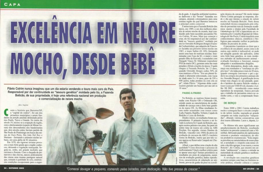 Reportagem de capa Revista AG